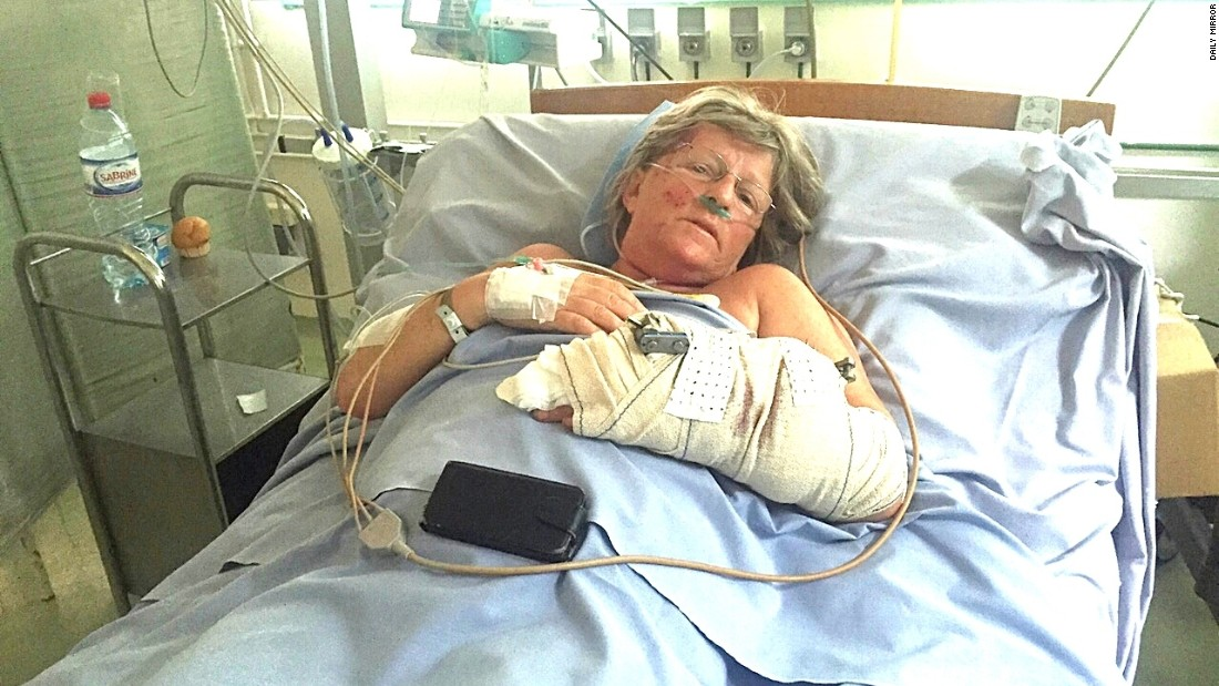 "<a href=""http://www.cnn.com/2015/07/02/africa/tunisia-terror-attack/index.html"" target=""_blank"">30 British tourists were killed</a> in a terror attack on a beach resort in Tunisia. Cheryl Mellor (pictured) and her husband Stephen sheltered together and told each other ""I love you"" before the gunman turned on them. Cheryl survived with gunshots to her arm and leg. Stephen, who tried to block the bullets, did not."