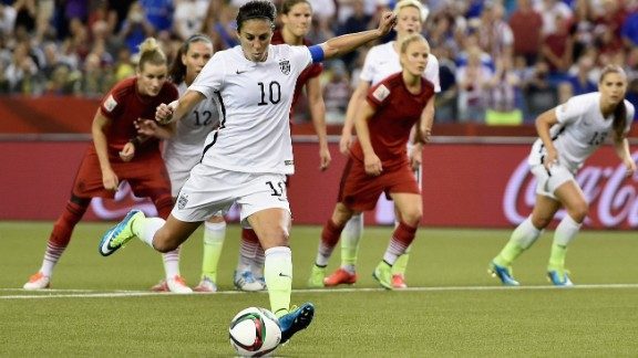 Carli Lloyd scores the Americans