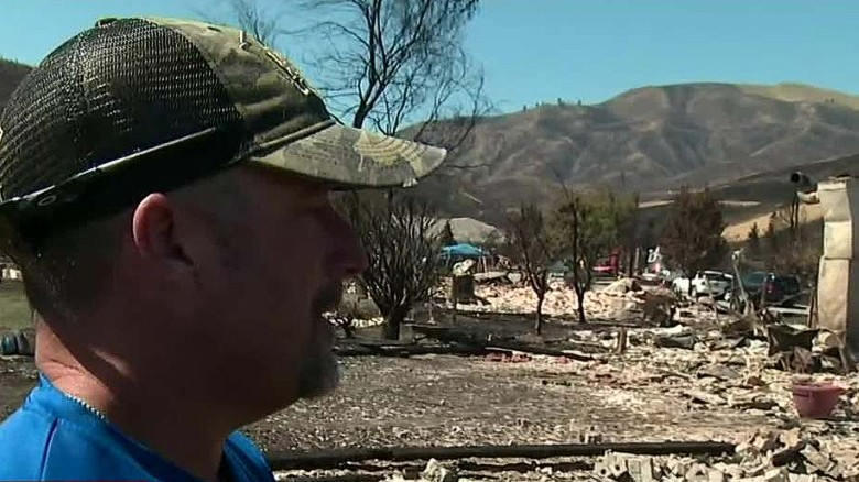 Man devastated after home destroyed by wildfire