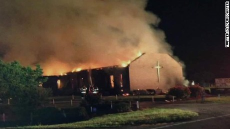 A storm was hitting Greeleyville when the fire at Mount Zion AME Church started Tuesday night.