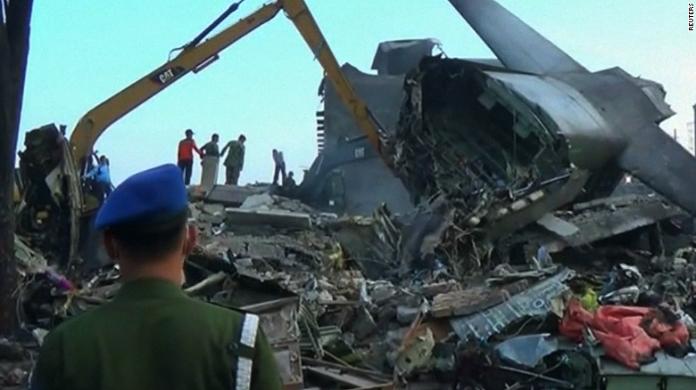 More bodies recovered after plane crashes in Indonesia