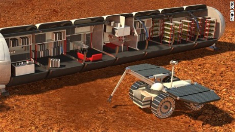 Humans colonizing Mars could live in modules with meticulous life support systems.