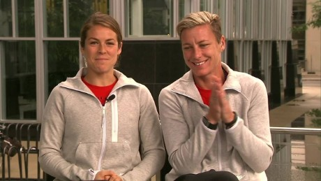Abby Wambach Kelley O'Hara soccer World Cup Final bts New Day_00000802