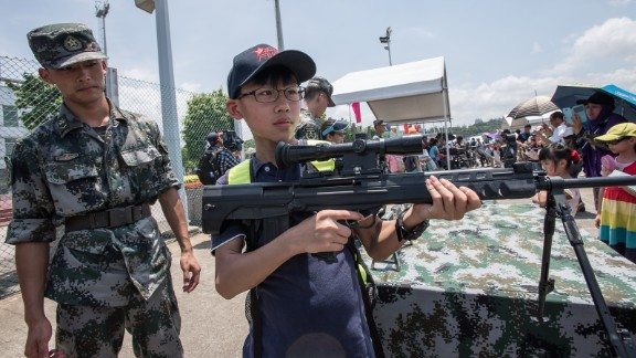 Firearms are tightly controlled in Hong Kong and China -- ownership is basically restricted to police, military, and security firms.