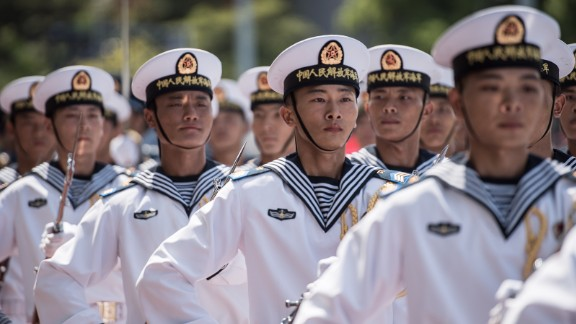 PLA soldiers here are from mainland China, and only a few speak Cantonese -- the preferred language for many Hong Kongers. Hong Kongers are not permitted to serve in the PLA.
