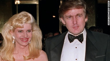 Ivana and Donald Trump pictured in 1989.