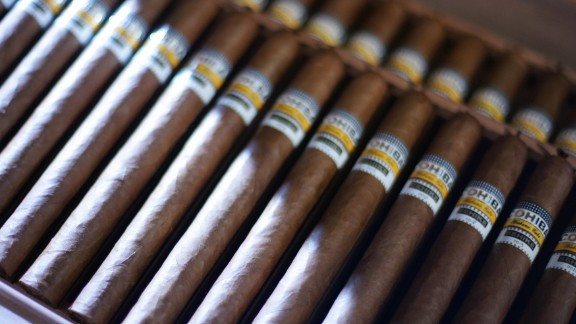Cuba's tobacco industry resulted in another staple the country is known for: cigars.  Pictured, a box of the world's most expensive cigars, Cuban Cohiba Behikes.