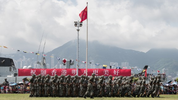 In the heart of Hong Kong, a former British colony, sits an unmistakable symbol of the city's Chinese rule, now in its 18th year: The barracks of the People's Liberation Army (PLA).
