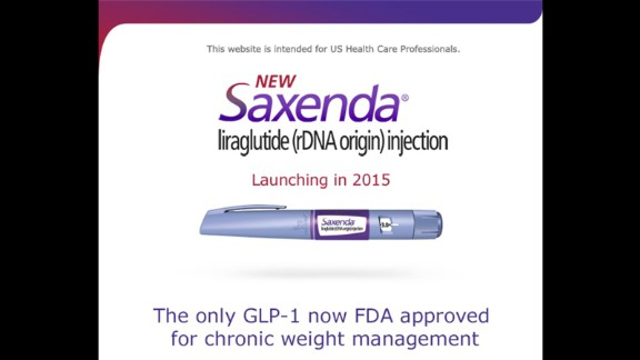 Saxenda is a weight-loss drug approved by the Food and Drug Administration in December.