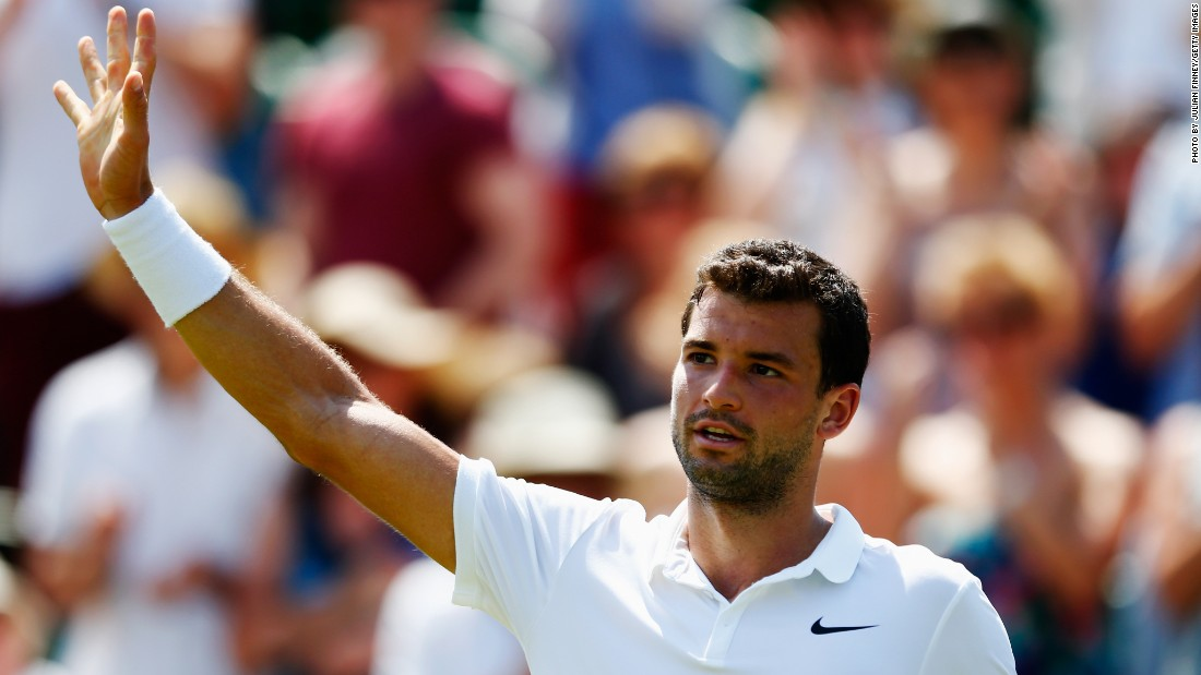 He won in straight sets, too, over big-serving American Steve Johnson. Last year Dimitrov made the semifinals at Wimbledon, ousting Andy Murray.