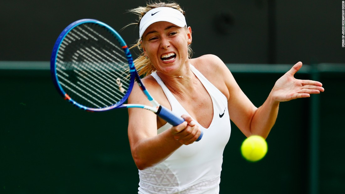 Maria Sharapova moved into the third round at Wimbledon on Wednesday by crushing Dutch qualifier Richel Hogenkamp on another steamy day in London.