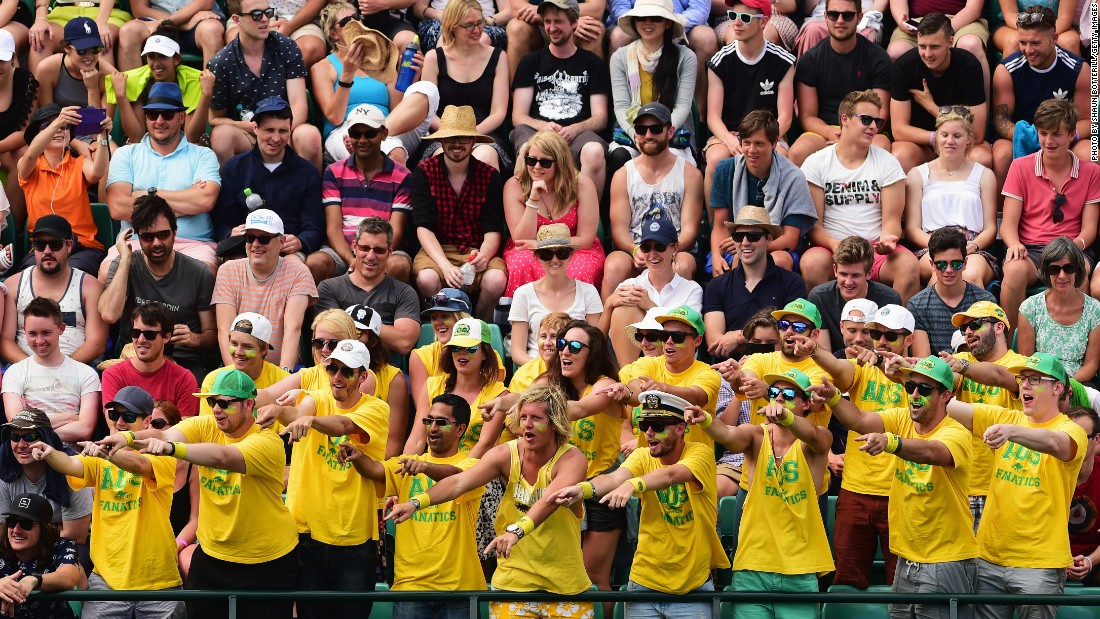 "Kyrgios and Tomic are bound to have plenty of support from the ""Fanatics"" on Friday. They are a set of fans who root for the Aussies."