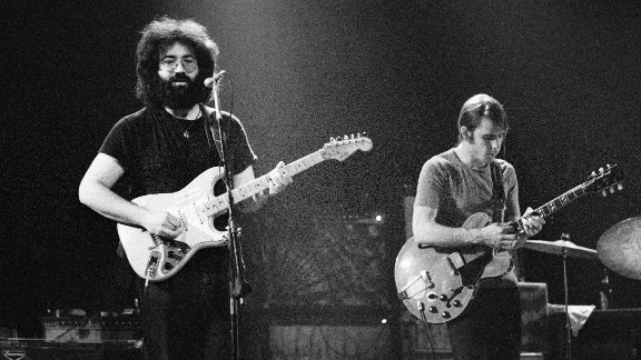 Garcia and Weir perform in Copenhagen, Denmark, in 1972.