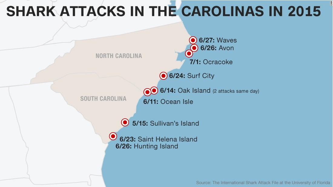 What S Behind Increase In Shark Attacks Off Carolinas Cnn