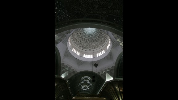 The dome of the shrine over Khomeini