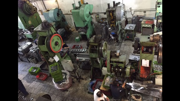 Despite its name, the Modern Technic factory is much less automated than most modern auto plants. Most of the machinery is Iranian-made or comes from Russia.