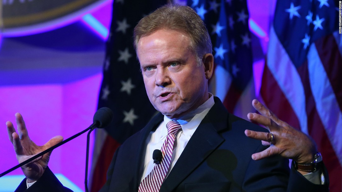 "Former Virginia Democratic Sen. Jim Webb speaks at the National Sheriffs' Association annual conference on June 30, 2015, in Baltimore, Maryland, a few days before he announced his presidential run. ""I understand the odds, particularly in today's political climate where fair debate is so often drowned out by huge sums of money,"" Webb wrote on his website. ""I know that more than one candidate in this process intends to raise at least a billion dollars -- some estimates run as high as two billion dollars -- in direct and indirect financial support."""