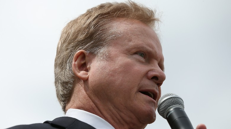 Former U.S. Sen. and Vietnam war veteran Jim Webb (D-VA) speaks during a ceremony commemorating the 40th anniversary of the fall of Saigon near the Vietnam Veterans Memorial April 30, 2015 in Washington, D.C.