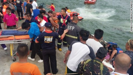 "Photos of the ferry accident in Ormoc City, from Philippine radio station ""Serbisyo Publiko sa Radyo"""