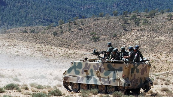 The ridges and crevices of the Chaambi Mountains around Kasserine provide perfect cover for terrorist training camps, in spite of the government