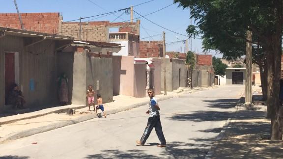 Al Zuhour district in Kasserine, where Tunisian authorities are raising the alarm over the presence of jihadi recruiters.