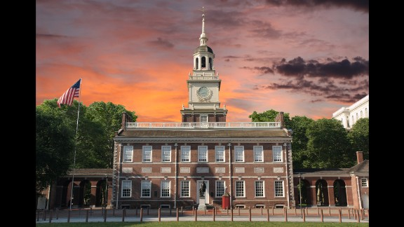 The Declaration of Independence and the U.S. Constitution were both debated and adopted in Philadelphia