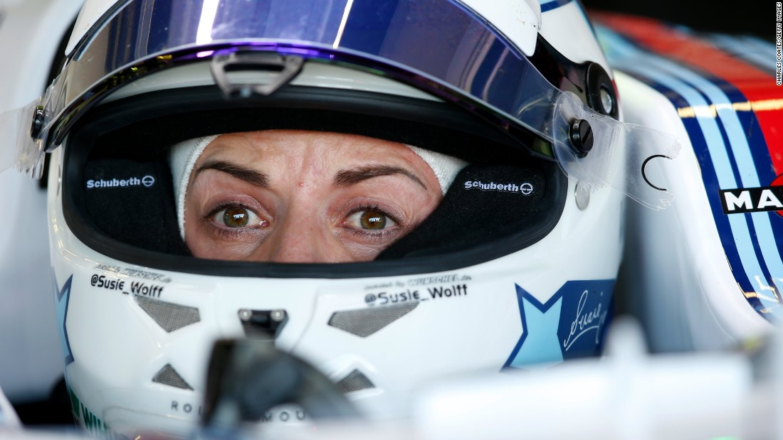 Susie Wolff is the first female to take part in an F1 race weekend. The 32-year-old Wolff completed her fourth and final scheduled track outing for Williams in 2015 on Friday's opening practice.