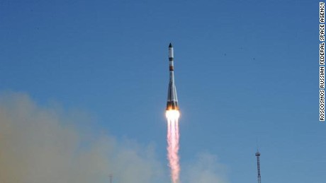 Russian Progress rocket launches on resupply mission to the International Space Station.