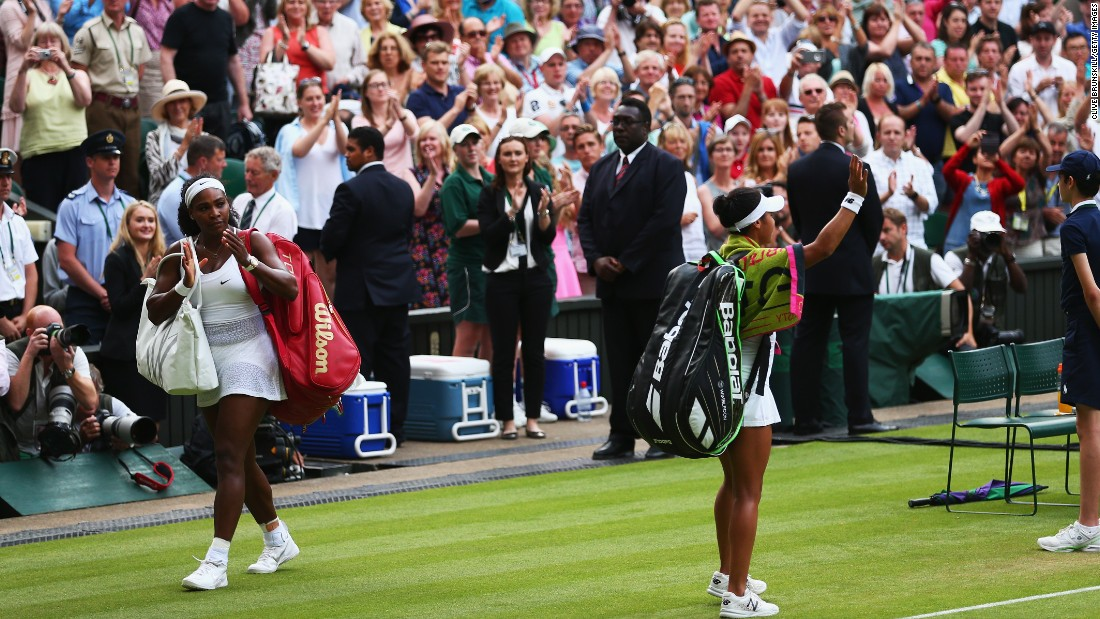 But Watson competed well in front of her home crowd. The fans -- and Williams -- applauded her as she left tennis' most famous court.