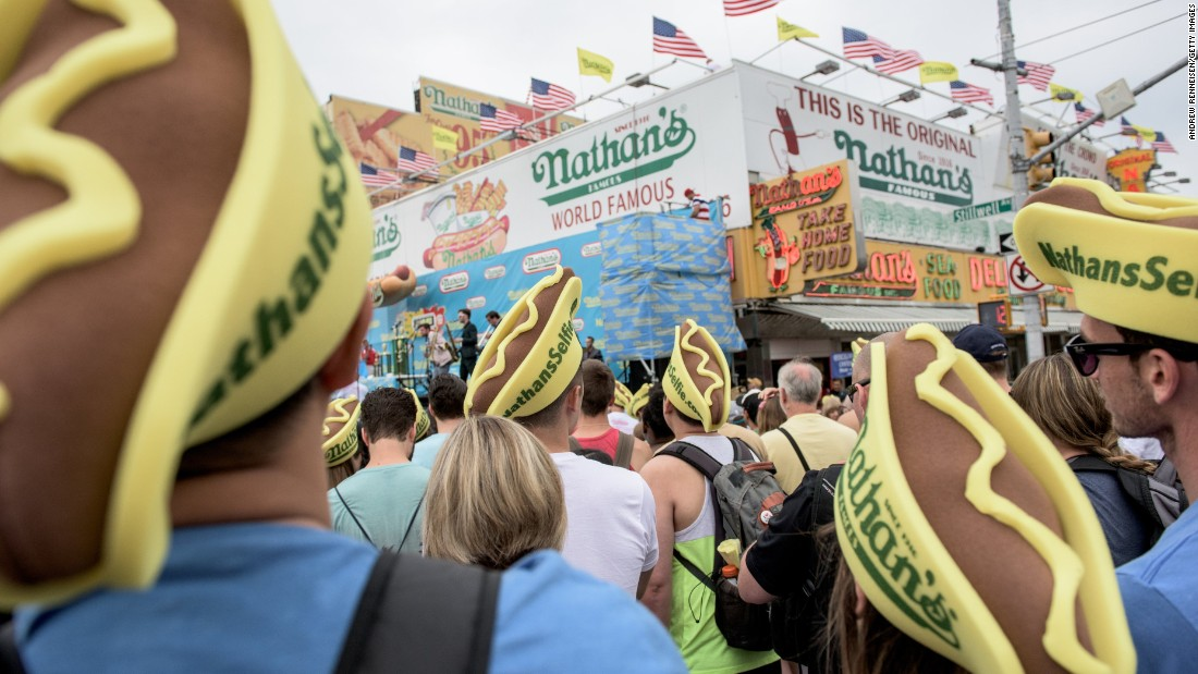 Spectators gather at Coney Island, the hot dog eating sport's biggest stage.