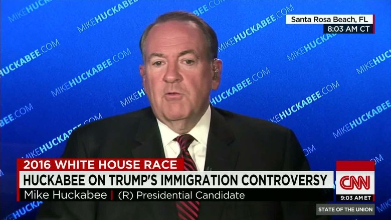 Huckabee takes softer tone on immigrants