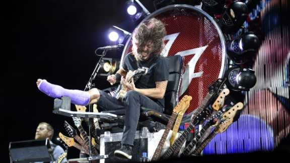 Foo Fighters frontman Dave Grohl sprang from the D.C. punk scene to become a member of Nirvana, a producer extraordinaire and a generally well-respected guy in the music business. Here, Grohl performs at RFK Stadium in Washington on July 4, 2015. The cast is for a broken leg caused by falling off a stage. Click through to see more from Grohl