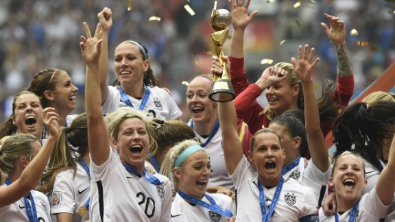 The U.S. Women's National Soccer Team celebrates after winning the Women's World Cup on Sunday, July 5, in Vancouver, Canada. The United States defeated Japan with a final score of 5-2. Click through the gallery to see tournament highlights: