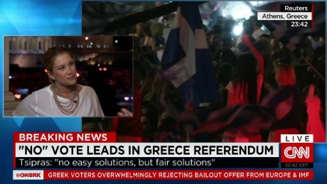 """No"" vote leads in Greece referendum"