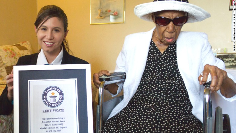 2015: Celebrating the world's oldest person