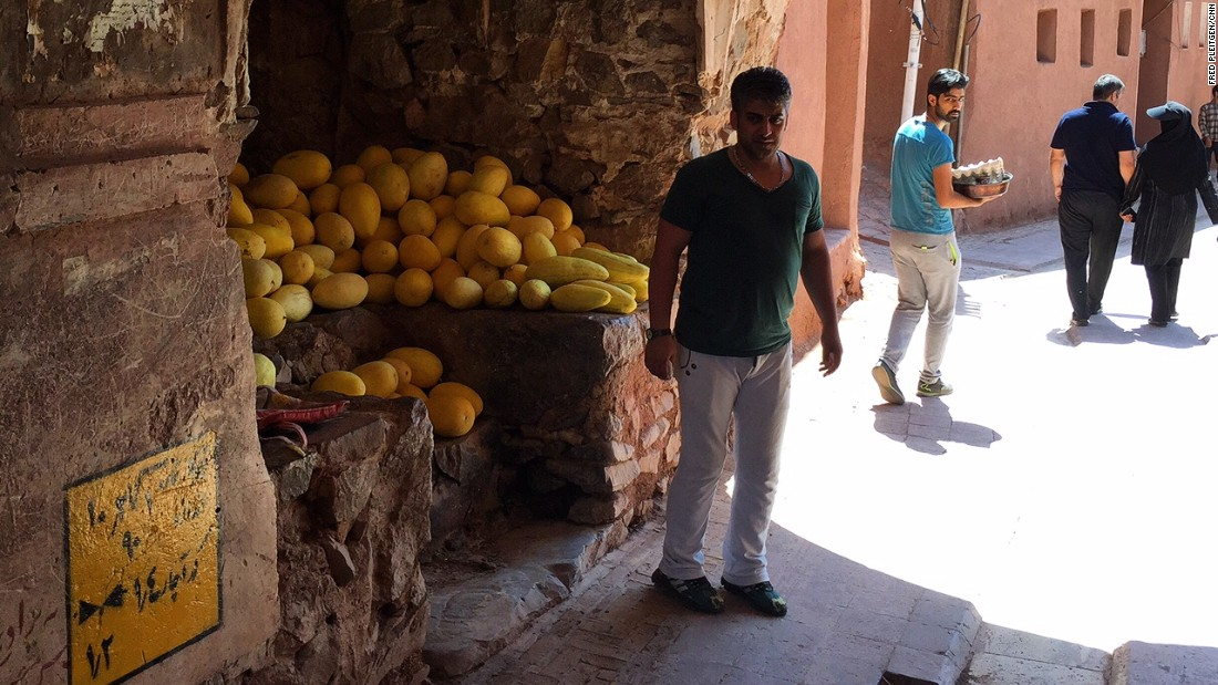 A fruit seller in Abyaneh. The people here are laid back but also well educated.