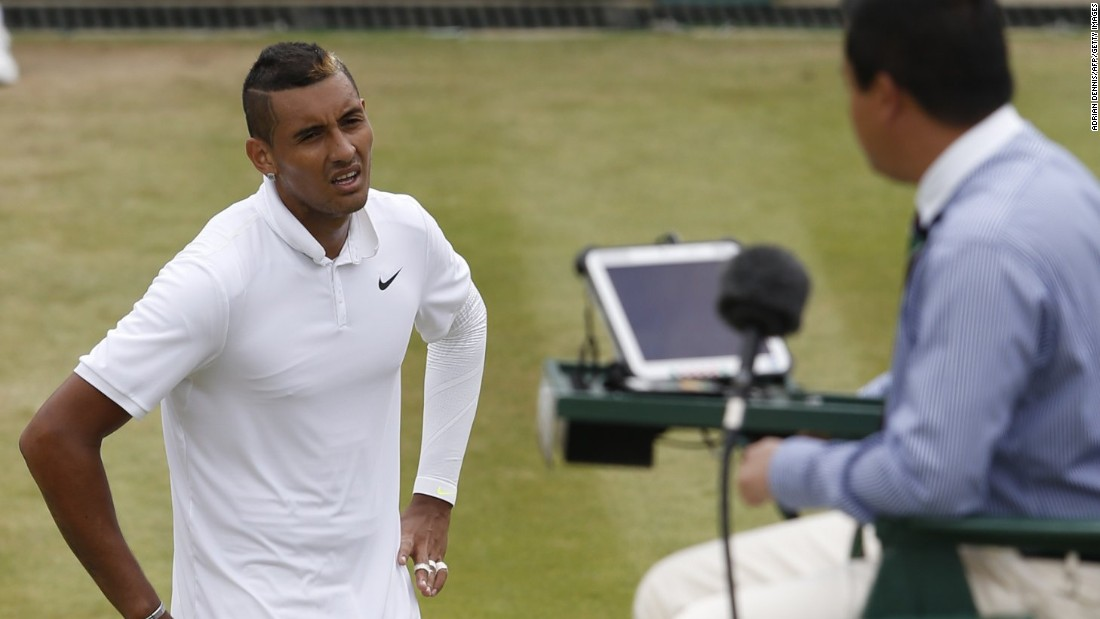Nick Kyrgios continued to make headlines. He received a warning for an audible obscenity and appeared to tank in one game in the second set against Richard Gasquet.