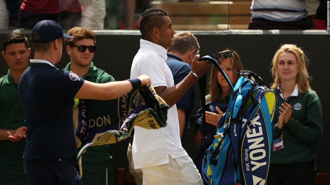 Gasquet lost to Kyrgios last year at Wimbledon after holding nine match points. But he won in four sets Monday to reach the quarterfinals and send Kyrgios packing.