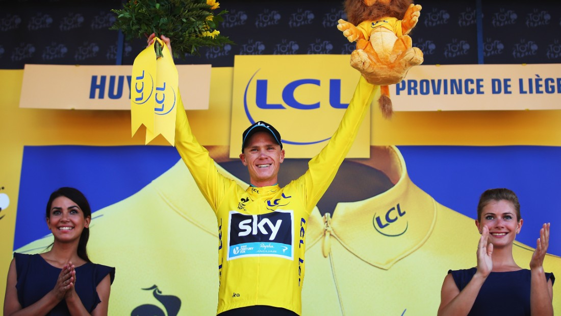 But it was Team Sky's Chris Froome who finished as overall leader. The Briton, who won the tour in 2013, leads Germany's Tony Martin by a second with U.S. rider Tejay Van Garderen lying third, 13 seconds behind Froome.