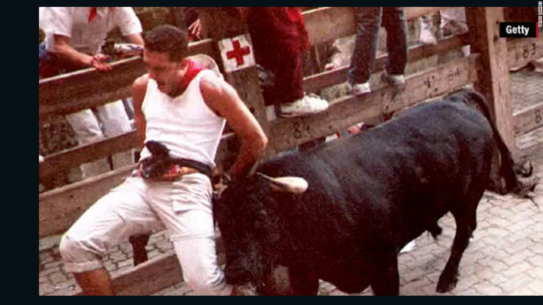 Three people gored as running of the bulls ends in Pamplona