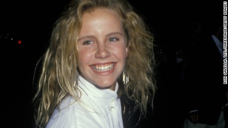 BEVERLY HILLS, CA - AUGUST 8:  Amanda Peterson sighted on August 8, 1988 at Ed Debevic's Restaraunt in Beverly Hills, California. (Photo by Ron Galella, Ltd./WireImage)