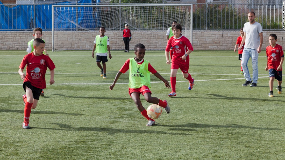 Hapoel brings together children from the local Arab and Jewish communities within Jerusalem. There are few football programs like it in the city.