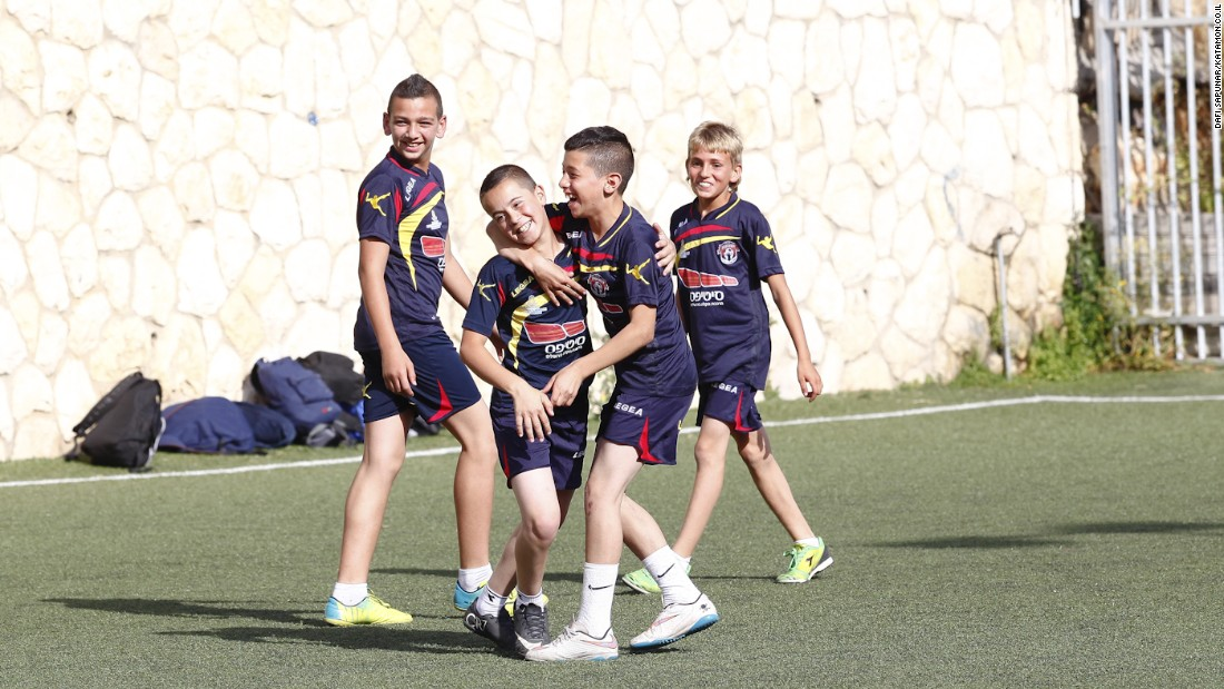 The local village league brings in teams from around Jerusalem to compete against each other. The children are encouraged to play football as well as take part in educational sessions to improve their studies.