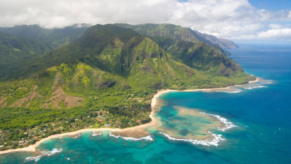 Kauai is the oldest Hawaiian Island, formed when lava bubbled up from the ocean floor 5 million years. Can't-miss sights include Pali Ke Kua, or Hideaways beach, kept secret by towering black lava walls, as well as the Waimea Canyon and Na Pali Coast, both banded by scenic hiking trails and switchbacks.