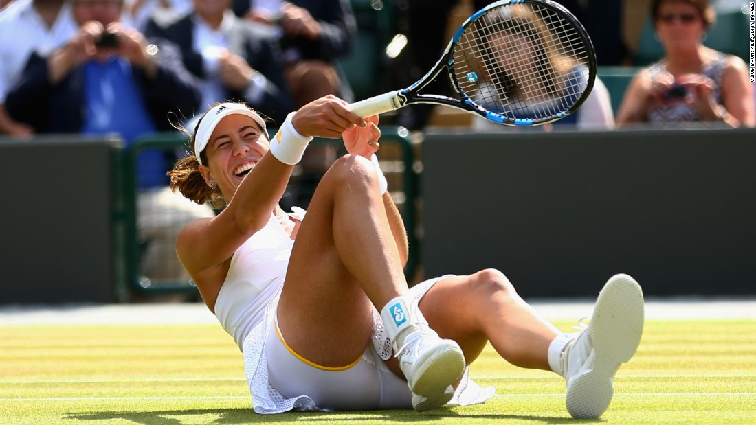 Garbine Muguruza, seen here, beat Timea Bacsinszky and plays Radwanska on Thursday. The Spaniard upset Williams at the French Open last year.
