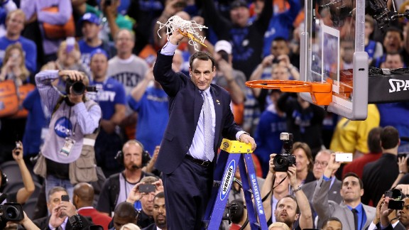 $3.2 million: The 20 highest-paid college football and basketball coaches in Division I athletics each make more than $3.2 million, according to The Best Schools. The highest paid is Duke Basketball coach, Mike Krzyzewski, who reportedly rakes in $7.2 million in salary alone, not including endorsement deals.