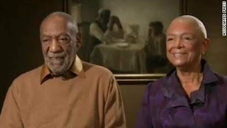 Camille Cosby standing by her husband
