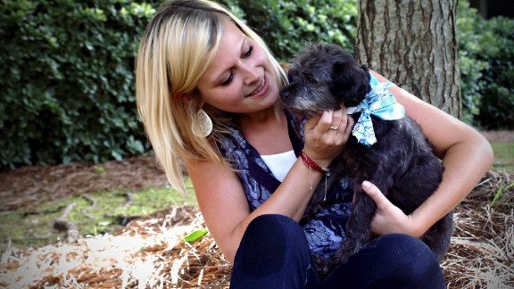 """Nicole Elliott, 24, agreed to foster Chester in late June after seeing a """"hospice needed"""" post on an animal shelter's Facebook page."""