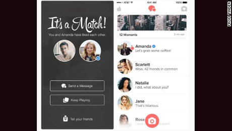 Tinder will use a blue checkmark to tell you whether celebrity profiles are verified.