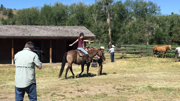 "Retreats at Cowgirl Yoga include daily yoga sessions as well as time spent riding horses. Yoga provides the tools to be prepared to handle ""whatever it is that comes your way,"" says company owner, Margaret Burns Vap."